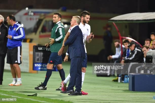 Andre Pierre GIGNAC / Didier DESCHAMPS Armenie / France Eliminatoires Euro 2016 Photo Dave Winter / Icon Sport