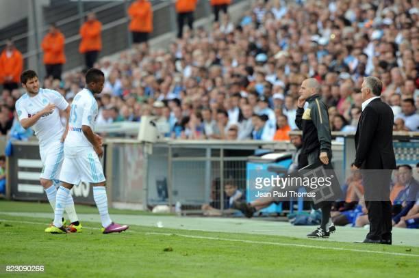 Andre Pierre GIGNAC / Jordan AYEW / Didier DESCHAMPS Marseille / Auxerre 33e journee de Ligue 1