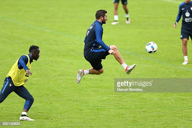 Andre Pierre Gignac of France during a training session during the preparation on the French football Team before Euro 2016 on May 18 2016 in...