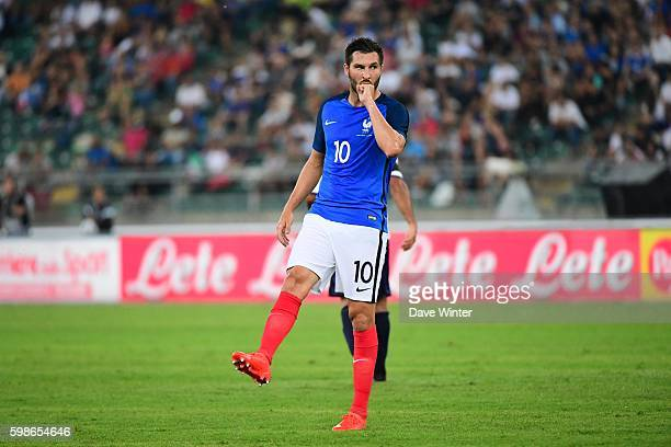Andre Pierre Gignac of France during the friendly match between Italy and France at Stadio San Nicola on September 1 2016 in Bari Italy