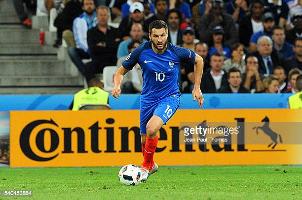 Andre Pierre Gignac of France during the UEFA EURO 2016 Group A match between France and Albania at Stade Velodrome on June 15 2016 in Marseille...
