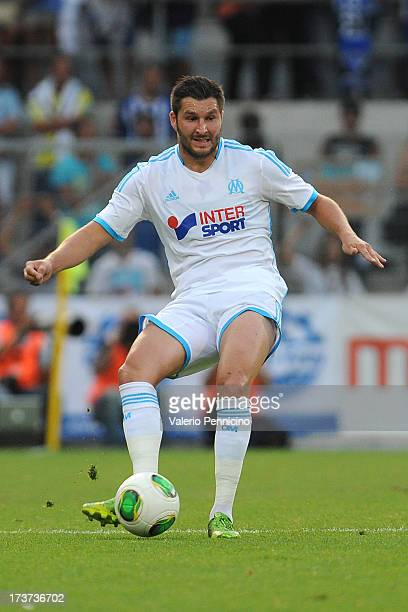 Andre Pierre Gignac of Olympique Marseille in action during the preseason friendly match between FC Porto and Olympique Marseille at Estadio...
