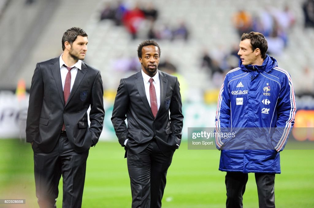 Andre Pierre Gignac / Sidney Govou / Sebastien Squillaci : News Photo