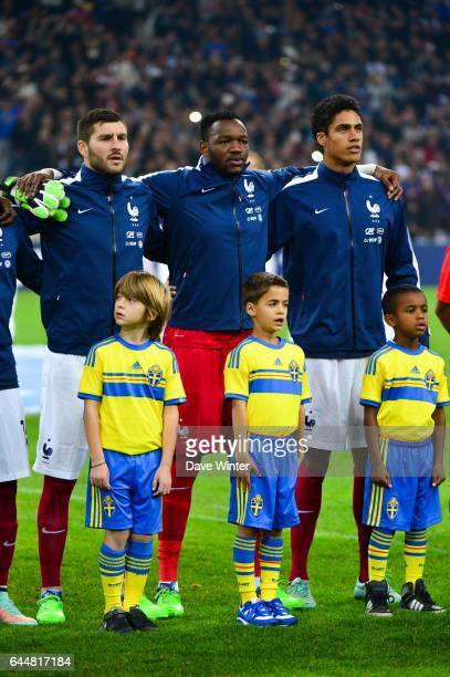 Andre Pierre GIGNAC / Steve MANDANDA / Raphael VARANE France / Suede Match Amical Marseille Photo Dave Winter / Icon Sport