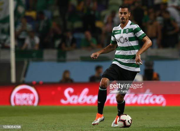Andre Pinto of Sporting CP in action during the Liga NOS match between Sporting CP and CD Feirense at Estadio Jose Alvalade on September 1 2018 in...