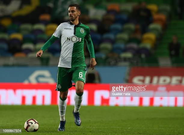 Andre Pinto of Sporting CP in action during the Portuguese League Cup match between Sporting CP and GD Estoril Praia at Estadio Jose Alvalade on...