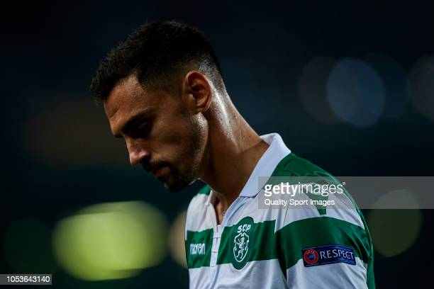 Andre Pinto of Sporting de Portugal looks on during the UEFA Europa League Group E match between Sporting CP and Arsenal at Estadio Jose Alvalade on...