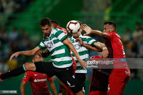 Andre Pinto of Sporting in action during Primeira Liga 2018/19 match between Sporting CP vs CS Maritimo in Lisbon on September 29 2018