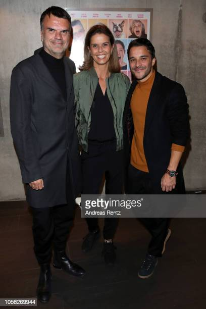 Andre Pollmann Kerstin Pooth and Kostja Ullmann attend the movie premiere of 'Wuff' at Mathaeser Filmpalast on October 22 2018 in Munich Germany