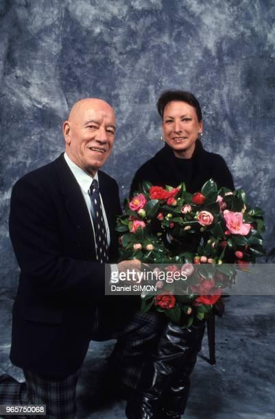 Andre Pousse et sa femme Joss lors du dejeuner de la SaintValentin chez Maxim's le 14 fevrier 1994 a Paris France