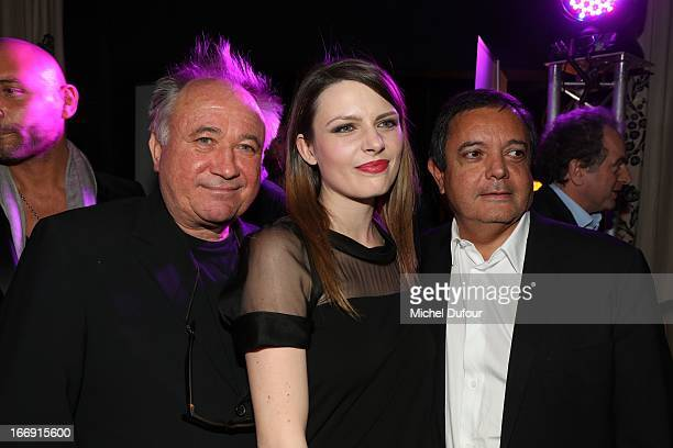 Andre Rau Elodie Frege and Edouard Nahum attend the 'Divamour' Launch Party at Tres Honore Bar on April 18 2013 in Paris France