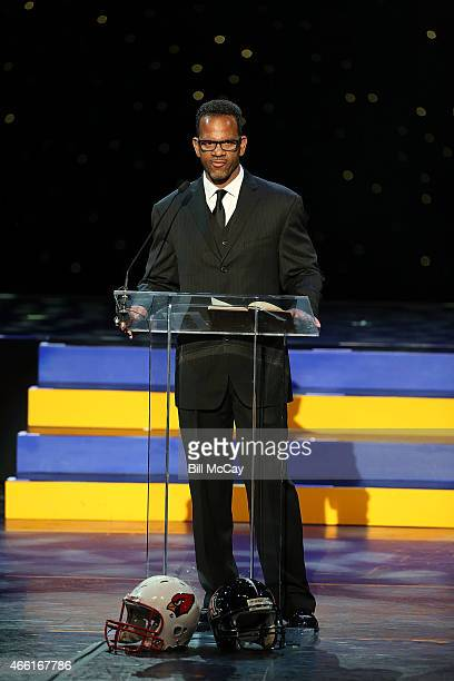 Andre Reed attends the 78th Annual Maxwell Football Club Awards Gala Press Conference at the Tropicana Casino March 13 2015 in Atlantic City New...