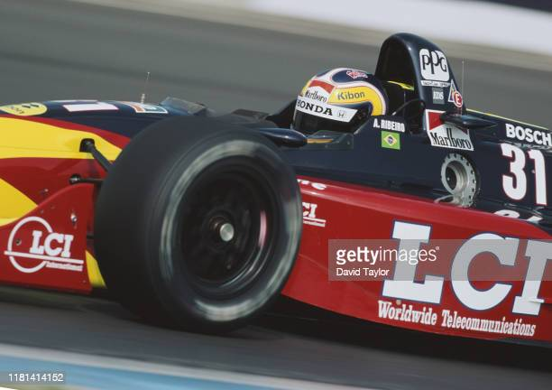 Andre Ribeiro of Brazil drives the Tasman Motorsports Lola T96/00 Honda HRH V8t during the Championship Auto Racing Teams 1996 PPG Indy Car World...