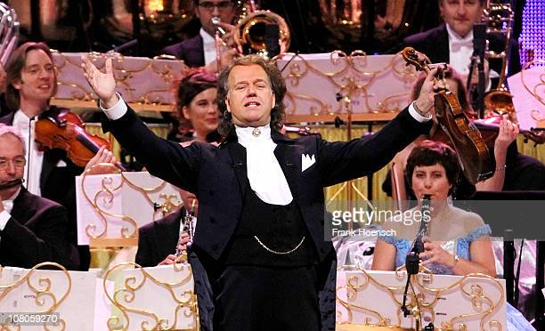 Andre Rieu and his Johann Strauss Orchestra perform live during a concert at the O2 World on January 15 2011 in Berlin Germany