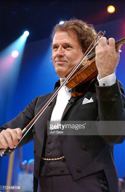 Andre Rieu during Andre Rieu with Johan Strauss Orchestra 'Romantic Paradise' Tour 2004 at Tokyo International Forum in Tokyo Japan