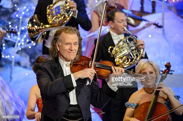 Andre Rieu is seen on stage during the tv show 'Das Adventsfest der 100000 Lichter' on November 26 2016 in Suhl Germany