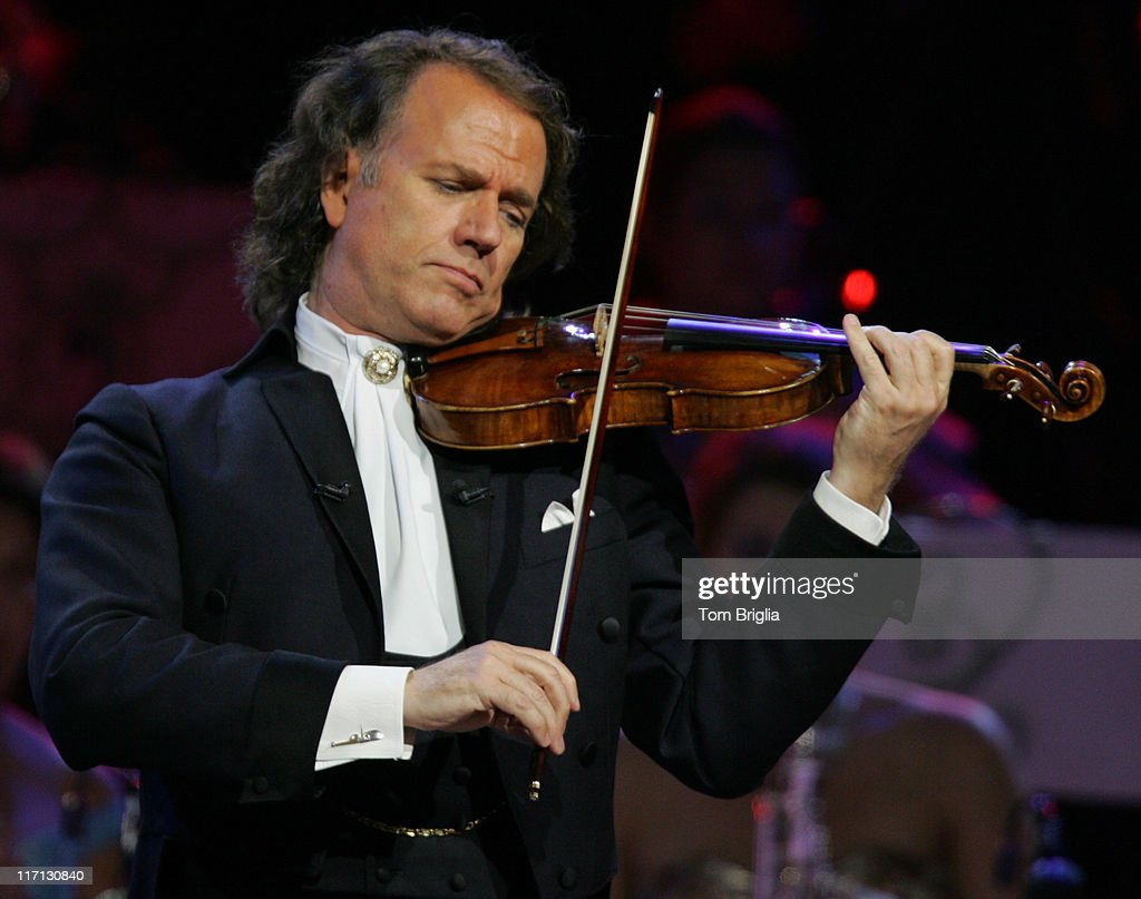 Dutch Violinist and Conductor Andre Rieu with the Johann Strauss Orchestra in