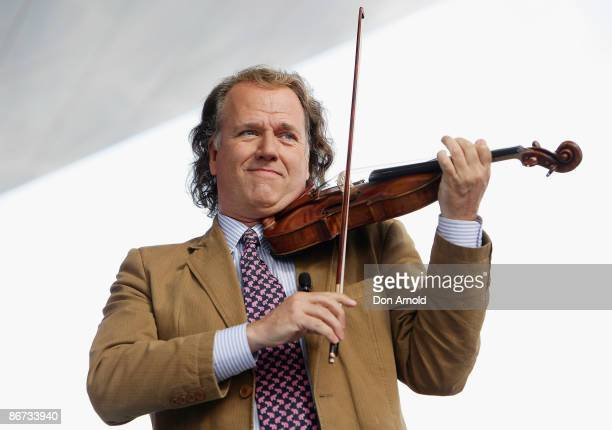 Andre Rieu performs during an appearance to promote his latest album 'You'll never walk alone' at Blacktown Westpoint on May 8 2009 in Blacktown...