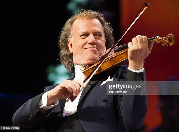 Andre Rieu performs on stage at SSE Arena Wembley on December 19 2014 in London United Kingdom