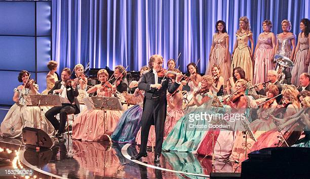 Andre Rieu performs on stage at the Classic Brit Awards 2012 at Royal Albert Hall on October 2 2012 in London United Kingdom