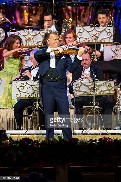 Andre Rieu performs on stage at the MitsubishiElectricHalle on January 09 2014 in Duesseldorf Germany