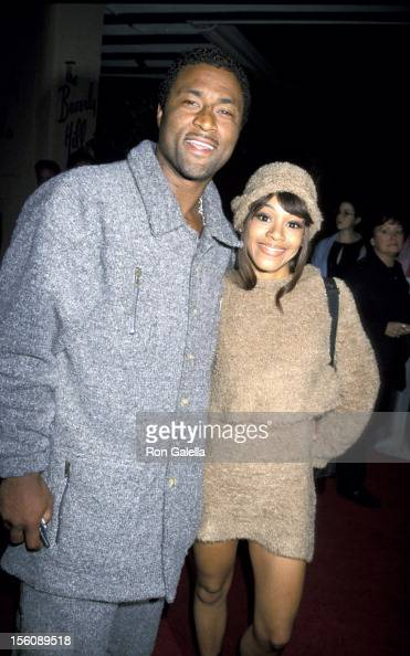 Andre Rison and Lisa 'Left Eye' Lopes of TLC during The ...