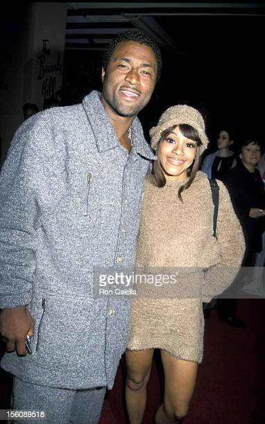 Andre Rison and Lisa 'Left Eye' Lopes of TLC during The 42nd Annual GRAMMY Awards Arista Records PreGRAMMY Party at Beverly Hilton Hotel in Beverly...