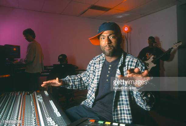 Andre Rison of the Atlanta Falcons in a recording studio making music circa 1994 Rison played for the Falcons from 199094
