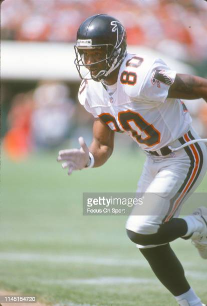 Andre Rison of the Atlanta Falcons in action against the San Francisco 49ers during an NFL Football game September 19 1993 at Candlestick Park in San...