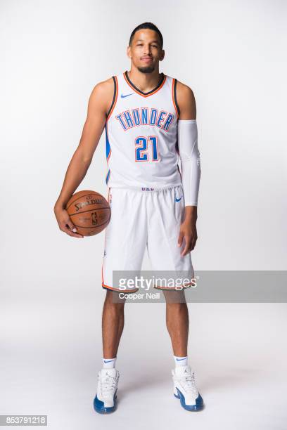 Andre Roberson of the Oklahoma City Thunder poses for a photo during media day at Chesapeake Energy Arena on September 25 2017 in Oklahoma City...