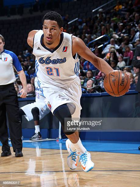Andre Roberson of the Tulsa 66ers drives against the Iowa Energy during an NBA DLeague game on February 4 2014 at the Chesapeake Energy Arena in...