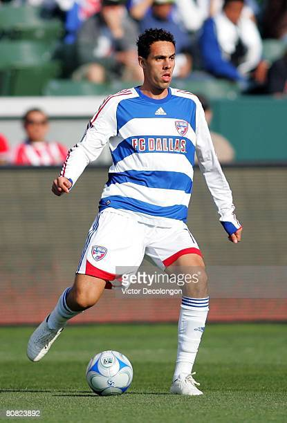 Andre Rocha of FC Dallas looks to pass the ball during their MLS game against CD Chivas USA in the first half at the Home Depot Center on April 20...