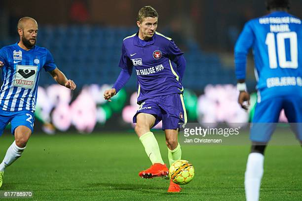 Andre Romer of FC Midtjylland in action during the Danish Alka Superliga match between Esbjerg fB and FC Midtjylland at Blue Water Arena on October...