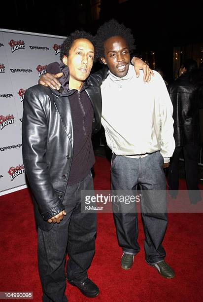Andre Royo and Michael K Williams during Paid In Full Premiere New York at Loews 19th Street East Theather in New York City New York United States