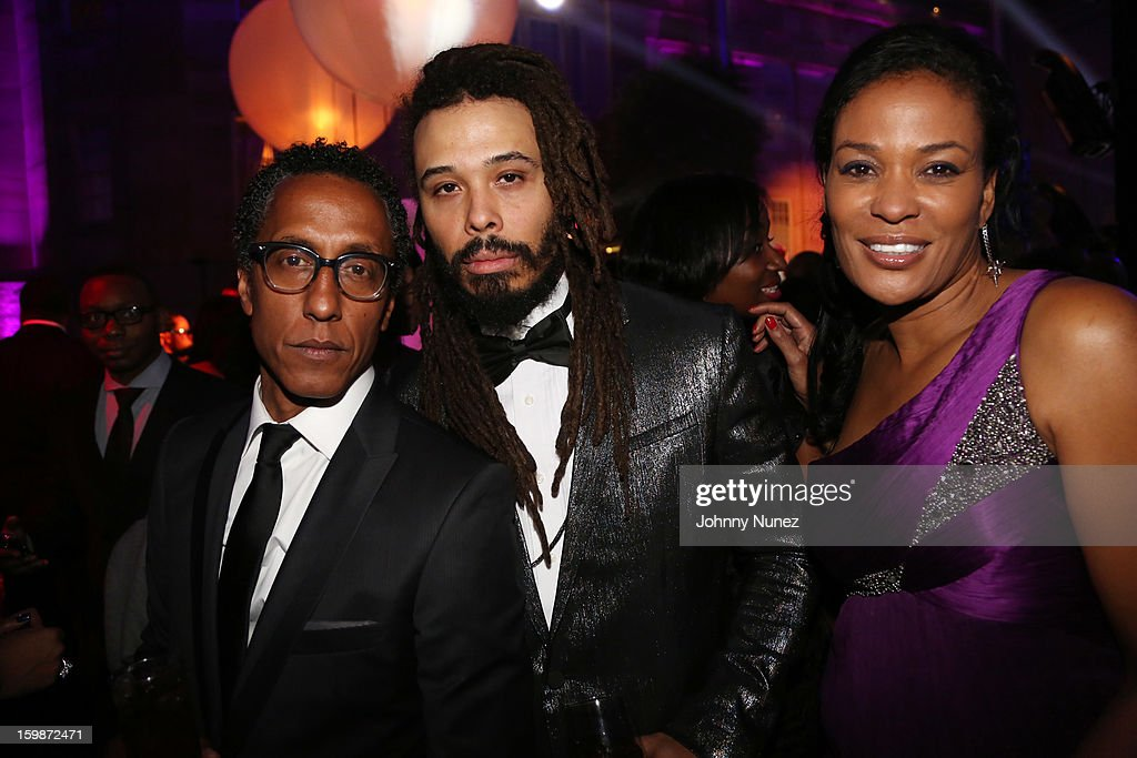 Andre Royo, Bazaar Royale, and Beverly Bond attend the 2013 BET Networks Inaugural Gala at Smithsonian National Museum Of American History on January 21, 2013 in Washington, United States.