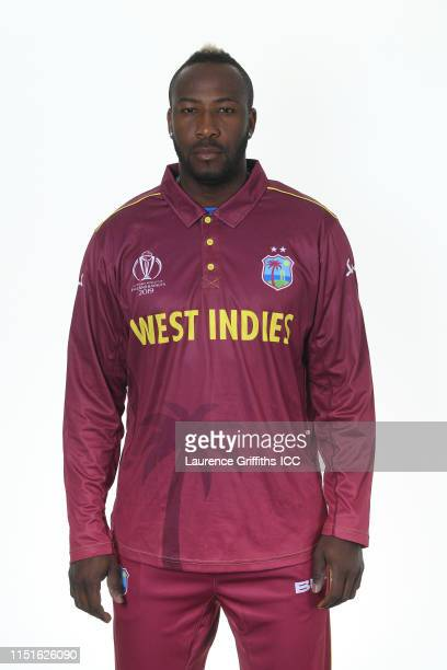 Andre Russell of West Indies poses for a portrait prior to the ICC Cricket World Cup 2019 at The Radisson Blu Hotel on May 25 2019 in Bristol England