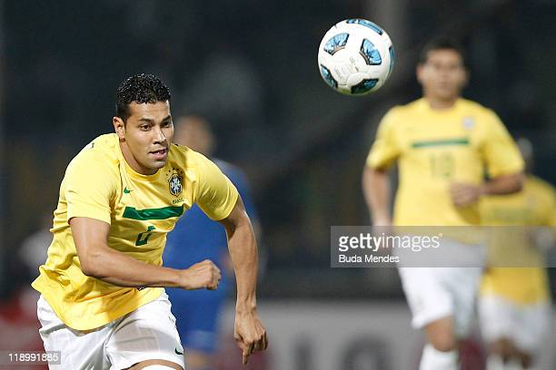 Andre Santos of Brazilin action during a match as part of Group B of Copa America 2011 at the Mario Kempes Stadium on July 13 2011 in Cordoba...