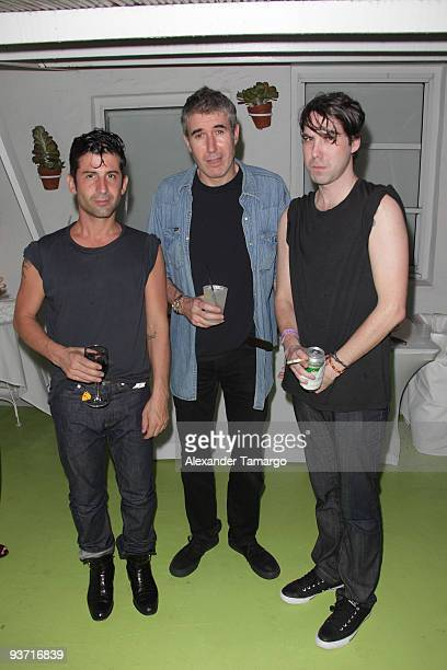 Andre Saraiva Adam McEwan and Leo Fitzpatrick attend the AnOther Magazine's Art Editions launch during Miami Art Basel at the Delano Hotel on...