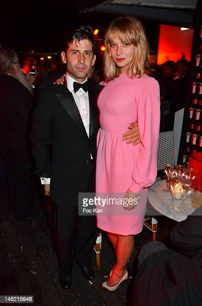 Andre Saraiva and actress Annabelle Dexter Jones attend the Magic Garden Le Baron Club Party 65th Annual Cannes Film Festival on May 23 2012 in...