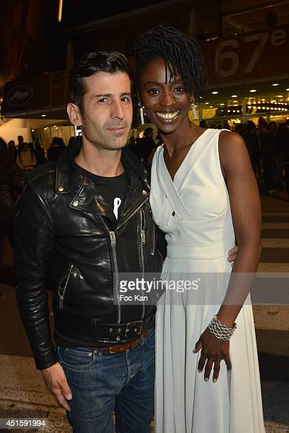 Andre Saraiva and Aissa Maiga attend the 'Timbuktu' Premiere at the 67th Annual Cannes Film Festival on May 15 2014 in Cannes France