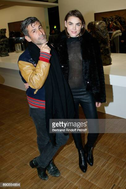 Andre Saraiva and Bamby Blight attend the Cesar Retrospective at Centre Pompidou on December 11 2017 in Paris France