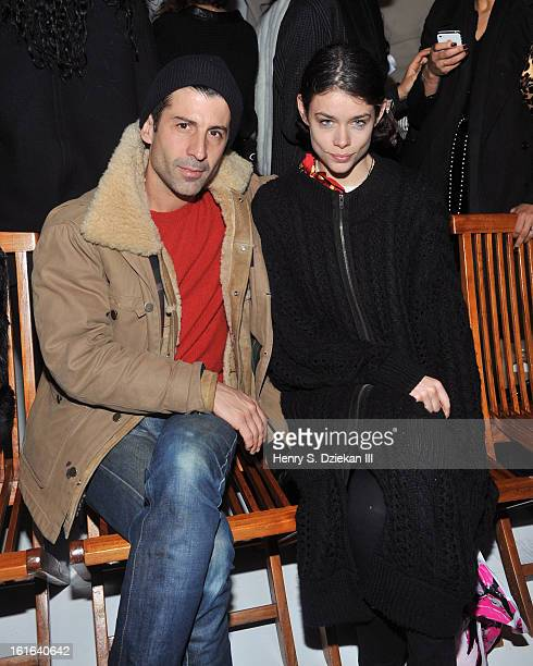 Andre Saraiva and El Grace attend threeASFOUR during Fall 2013 MercedesBenz Fashion Week at The Hole NYC on February 13 2013 in New York City