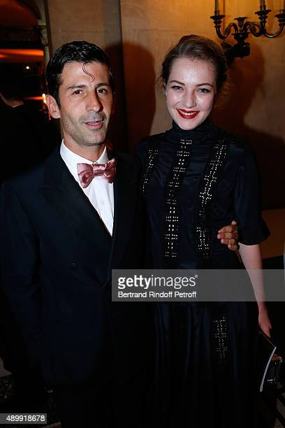 Andre Saraiva and Julia Campbell Gillies attend the Ballet National de Paris Opening Season Gala at Opera Garnier on September 24 2015 in Paris France