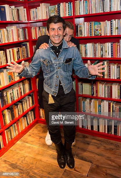Andre Saraiva and Romain StinsonLemullois attend the Sonia Rykiel boutitue opening on September 18 2015 in London England