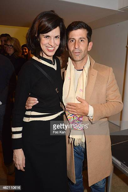 Andre Saraiva and Vanessa Seward attend the APC Menswear Fall/Winter 20152016 show as part of Paris Fashion Week on January 24 2015 in Paris France