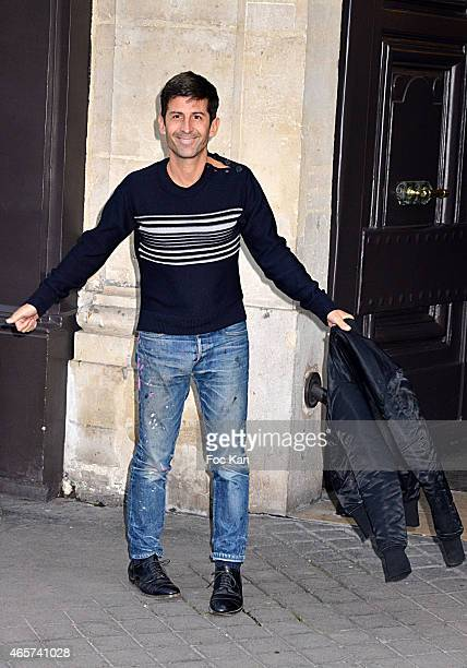 Andre Saraiva arrives at Sonia Rykiel Fashion Show during Paris Fashion Week Fall Winter 2015/2016 on March 9 2015 in Paris France