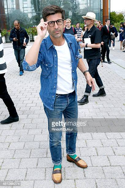 Andre Saraiva coowner of Paris famed nightclub 'Le Baron' attends the Louis Vuitton show as part of the Paris Fashion Week Menswear Spring/Summer...