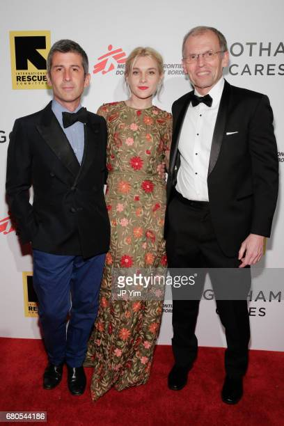 Andre Saraiva Jackie Swerz and John Lawrence attend Gotham Cares Gala Fundraiser For The Syrian Refugee Crisis In Support of Medecin Sans Frontieres...