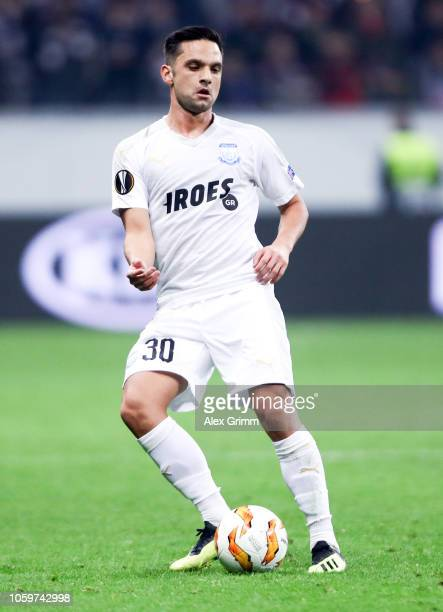 Andre Schembri of Limassol controls the ball during the UEFA Europa League Group H match between Eintracht Frankfurt and Apollon Limassol at...