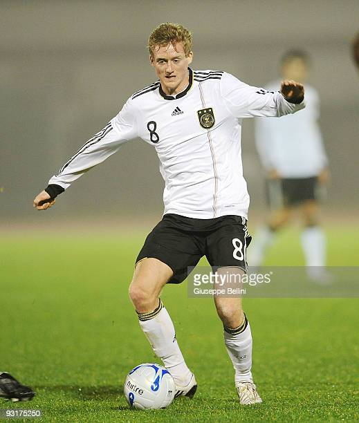 Andre Schuerle of Germany in action during the UEFA Under 21 Championship match between San Marino and Germany at Olimpico stadium on November 17,...
